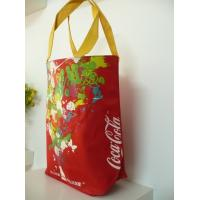 China Red Cola Oxford Fabric Carrier Bags, Eco Friendly Shoppng Bag With Nylon Handle on sale