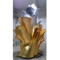 China Simple Abstract Metal Art Sculptures Exhibition Hall Contemporary Metal Sculpture wholesale