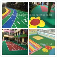 China Solvent Free EPDM Rubber Flooring , Epdm Granules Flooring For Outdoor Sport Playground Field on sale