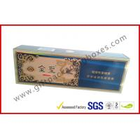 China China Brand Golden Cigar Gift Box With CMYK Print Sliver Paper wholesale