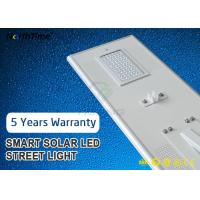 China 80Watt IP65 Smart Phone APP Control LED Smart Solar Street Light 5 Year Warranty wholesale