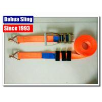 China Durable Orange Marine Winch Strap , 12000 Lb Winch Hook Strap Acid Resistance wholesale