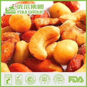 China Salted mixed nut of roasted almond, cashew, peanut, walnut wholesale