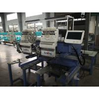 China Compact Two Head Embroidery Machine For Socks Cutting System More Stable on sale