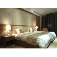 China Double Bed Furniture / Complete Hotel Room Furniture Twin Size wholesale