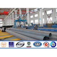 China 25ft -100ft Low Valtage Philippines Steel Transmission Pole With Angle Arms wholesale
