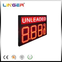 China Double Sides Unleaded LED Gas Price Sign With RF Wireless Remote wholesale