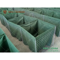 China Military Sand Barrier Wall, 0.61X0.61X3.05m MIL5, Olive Green Geotextile Cloth, China Manufacturer on sale