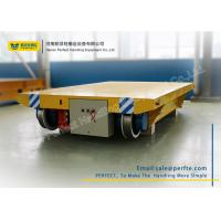China Cable Powered Rail Transfer Cart Wagon Anti - High Temperature With Flat Bed wholesale