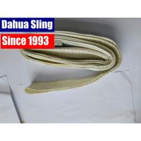 China White Polyester Crane Endless Lifting Slings , 2 Ton Industria Flat Webbing Sling wholesale