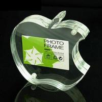 China Apple Shape Acrylic Picture Frames With High Transparency For Family Gift wholesale