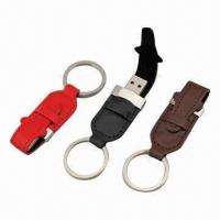 China 64MB to 32GB Executive Combination Leather USB Flash Drives with Key Ring wholesale
