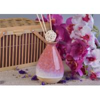China 330ml Pink Glazing Ceramic Aromatherapy Oil Diffuser Bottle for Home Fragrance wholesale
