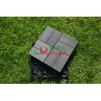 China Waterproof Durable Interlocking Composite Deck Tiles Moisture Resistance 30cm * 30cm wholesale