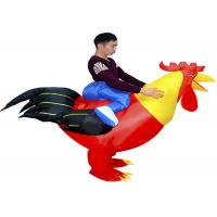 China Adult 1.5-1.8m Cock Suit Inflatable Kids Toys Animal Toys Red Chicken Costume wholesale