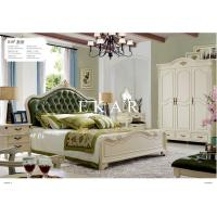 China Vintage Antique Bed Wood full bedroom set classic luxury beds wholesale