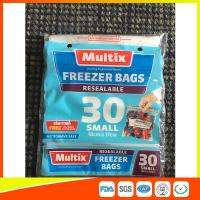 Microwave Safe Freezer Zip Lock Bags For Supermarket / Household Used for sale