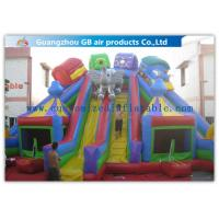 China Funny Children Inflatable Amusement Park , Inflatable Bouncy Castle With Slide wholesale