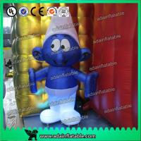 China 2M -20M Custom Oxford cloth Inflatable Smurfs With LED Light wholesale