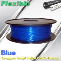 Quality High Soft TPU Rubber 3D Printer Filament 1.75mm / 3.0Mm In Blue for sale