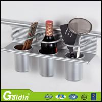China wall mount aluminum kitchen spice rack wholesale