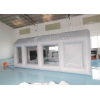 China Grey Moveable Inflatable Car Paint Spray Booth With Filter System 6x4x2.5m wholesale