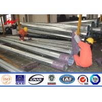 China SGS Signle Circuit Galvanised Steel Utility Mast Pole With Hot Dip Galvanization on sale