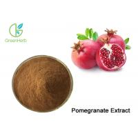 China Brown Pomegranate Extract Powder Punicalagin / Punicosides / Ellagic Acid on sale