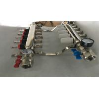 China 304 Or 201 Stainless Steel Radiant Floor Heating Manifold 5 Ways wholesale