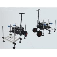 China Powder Coated alu. Fishing Seat Boxes with Foldable Footplate STBX028 wholesale