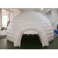 China White Inflatable Igloo Tent Outside Diameter 4.8 Meter CE Certificated wholesale