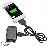 China 1200mAh mini keychian solar power bank for mobile phone with cheapest price and high quali on sale