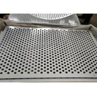 China 1.2mm Thickness Perforated Metal Mesh Hexagonal Hole Type White Color wholesale