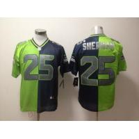 China Nike NFL Seattle Seahawks 25 Sherman blue green split elite Jersey wholesale