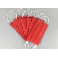 China Anti Spray 3 Ply Red OEM Disposable Earloop Mask wholesale