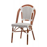 China Bamboo Stacking Hand Woven Wicker Rattan Dining Chairs For Restaurant Lightweight wholesale