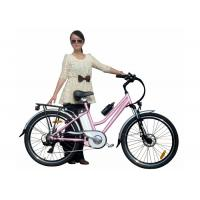 China Girls Pink Green City E Bike / Bicycle with PAS , 250W brushless hub motor wholesale