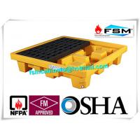 China Poly Oil Drum Containment Pallet Spill Platform For 4 Drum Chemical Fuel wholesale