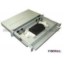 China 24 SC Simplex Port Fiber Optic Patch Panel With Sliding Out Drawer Internal Use on sale