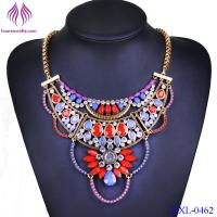 China Fashion color stone choker Statement Necklace For Women Popular Necklace Wholesale wholesale