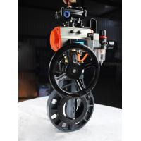 China good price high quality 2'' 3'' 4''PVC pneumatic butterfly valve with manual operator warranty 1 year on sale