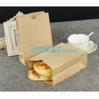 China China Suppliers Wholesales Customized Shopping Gift Printed Craft Bread Packaging Paper Bag With Handle, bagplastics, ba on sale