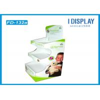 China Three Tiers Trapezoid Cardboard Pallet Display , Plush Toys Retail Display Shelves wholesale