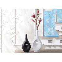 China Hotel / House Polyresin Decoration Crafts , Desk Ornament Polished Vases wholesale