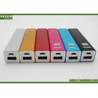 China Metal Case Portable Battery Power Bank , Lipstick Design 18650 Battery Bank For Samsung wholesale
