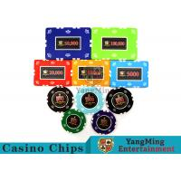 China Circular / Square Shape Professional Poker Chip Set With 25 Pcs In A Shrink Roll wholesale