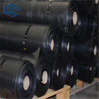 China impervious membrane  HDPE geomembrane waterproof black  sheet for pond liner wholesale