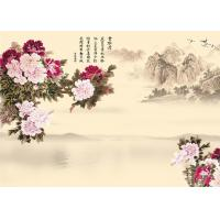 China 9Mm Thickness Advanced Technology Bamboo Wood Boards Peony And Poems Landscape wholesale