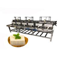 China industrial 6 tofu mold pneumatic tofu pressing forming machine wholesale