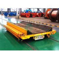 China Industrial Material Handling Ferry Motorized Die Steerable Battery Powered RGV Rail Electric Coil Transfer Vehicle wholesale